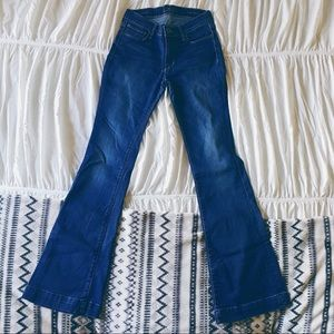 Lucky Brand Brooke Flare Stretch Dark Wash Jeans